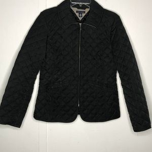 Tommy Hilfiger | black quilted full zip jacket